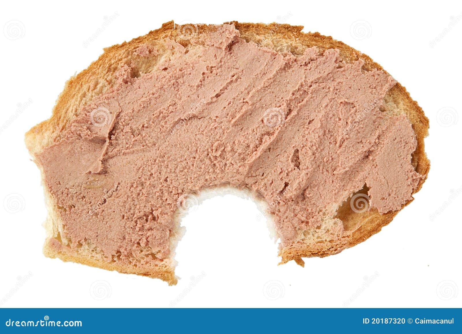 Biten brödpateskiva