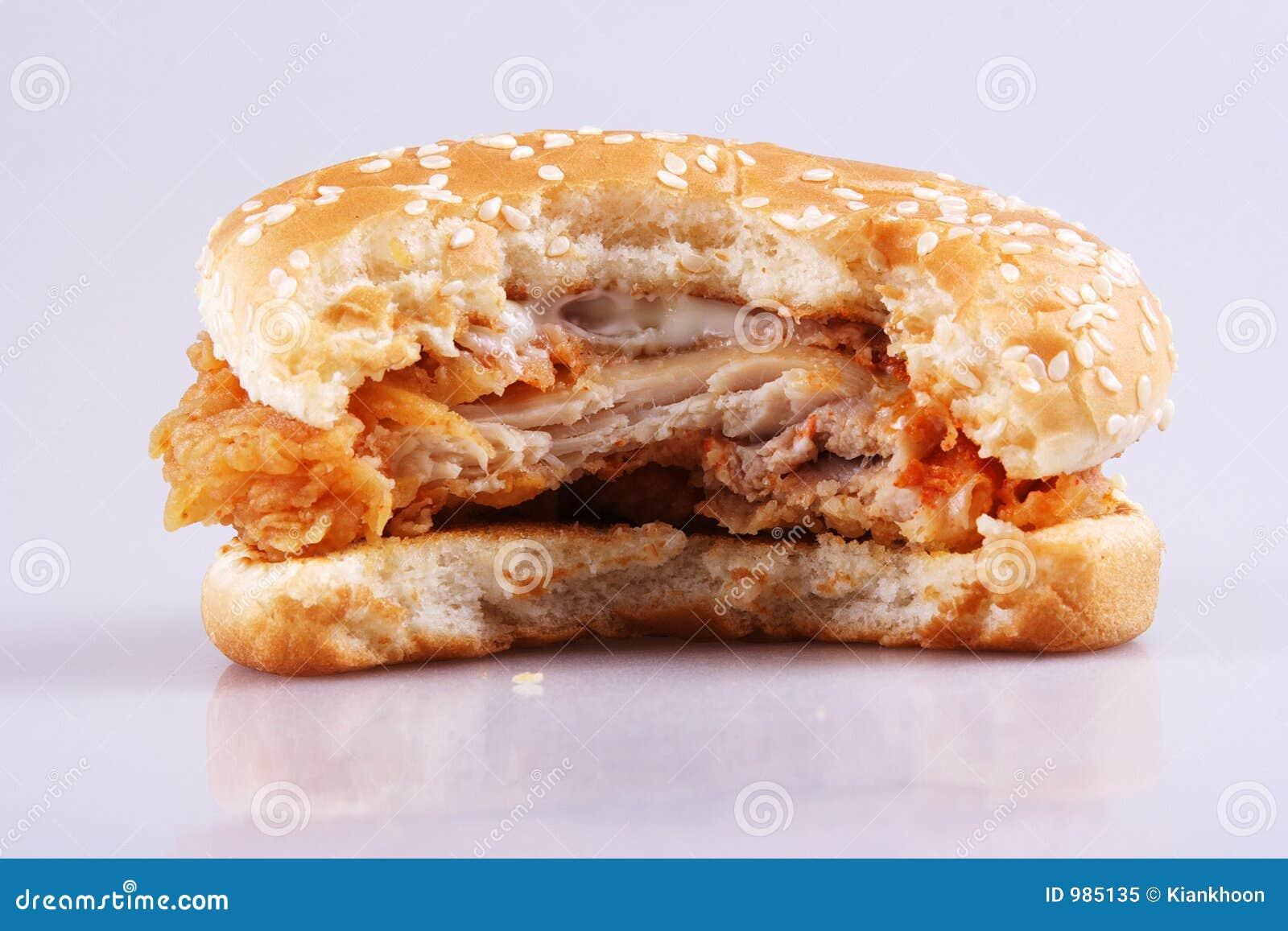 Biten hamburgare