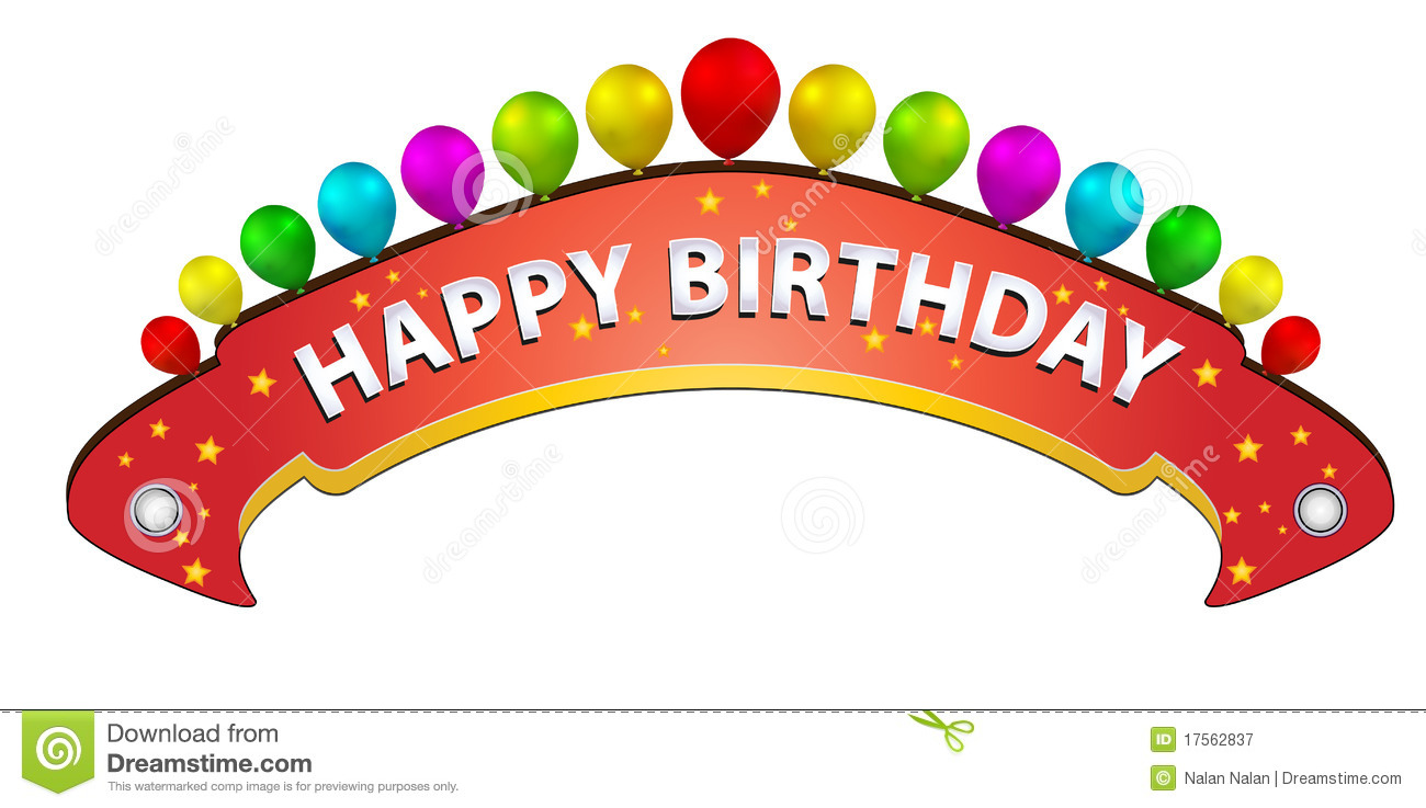 Free birthday banner images - Royalty Free Stock Photo