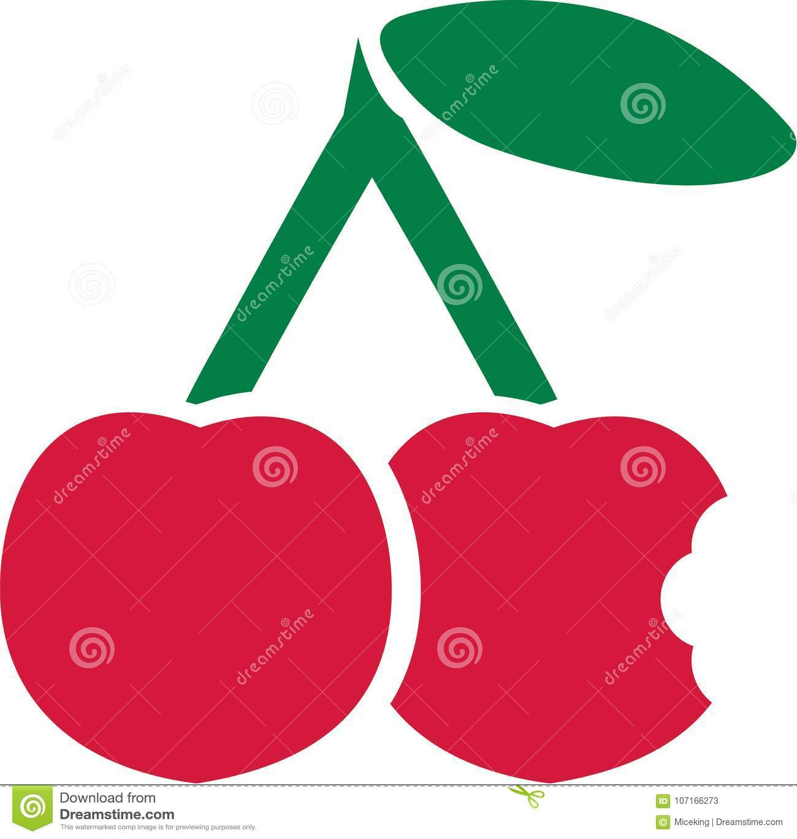 Bitten into cherry