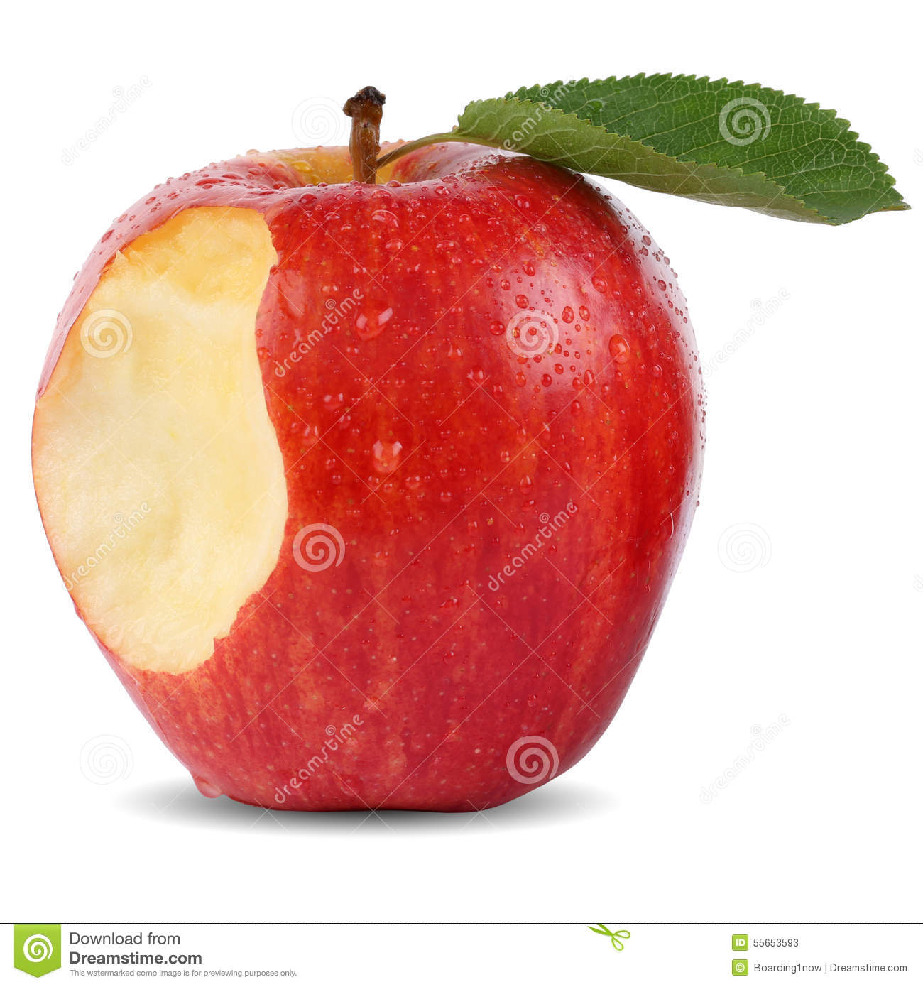 Apple fruit images download - Bitten Red Apple Fruit Missing Bite Isolated