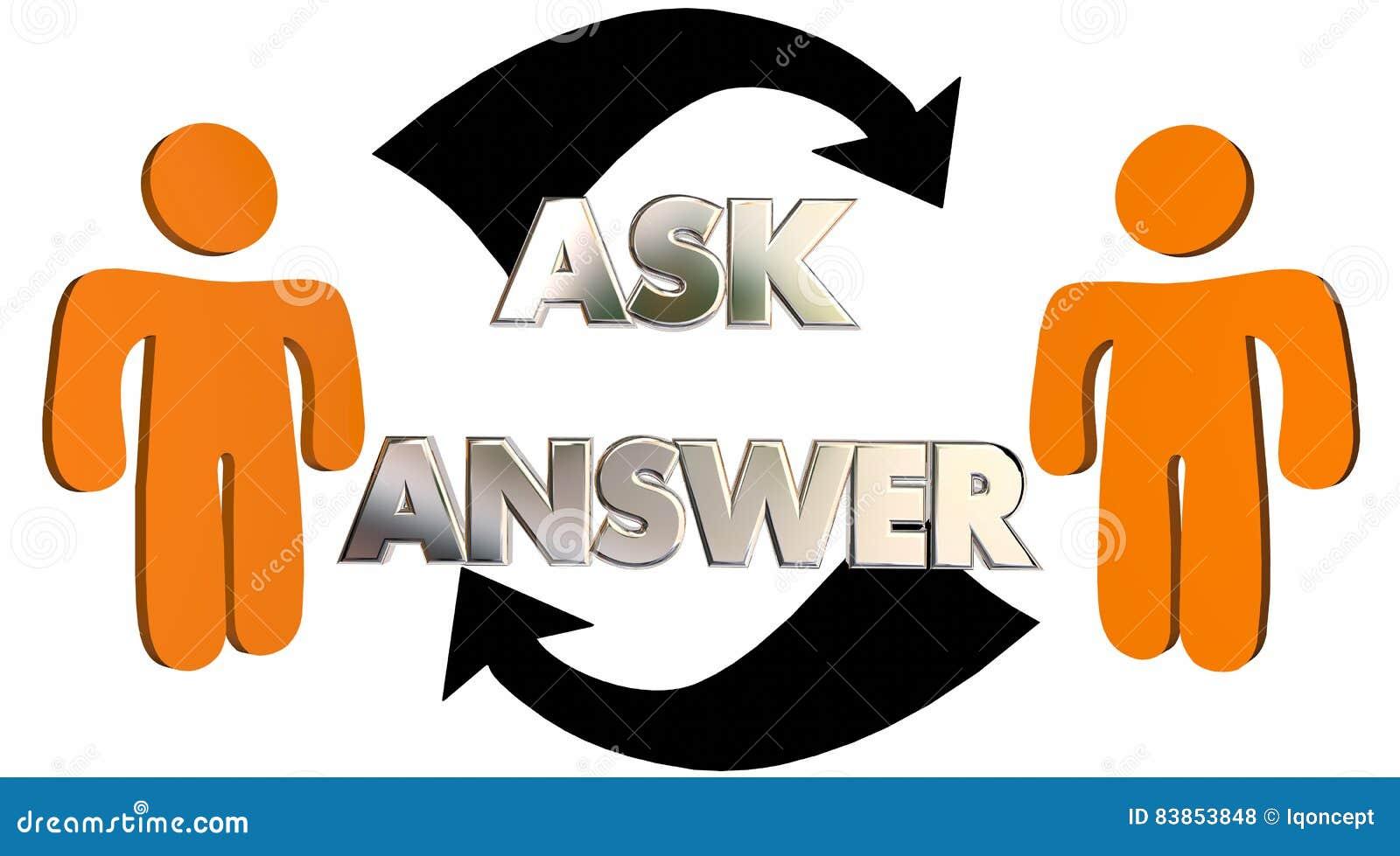 Bitten Sie Antworten, Dass Fragen Hilfsleute-Pfeile Erhalten Stock ...