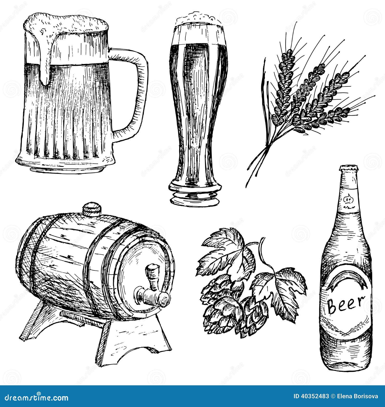 Bitter Beer Stock Vector. Image Of Lunch, Liquid, Drawing