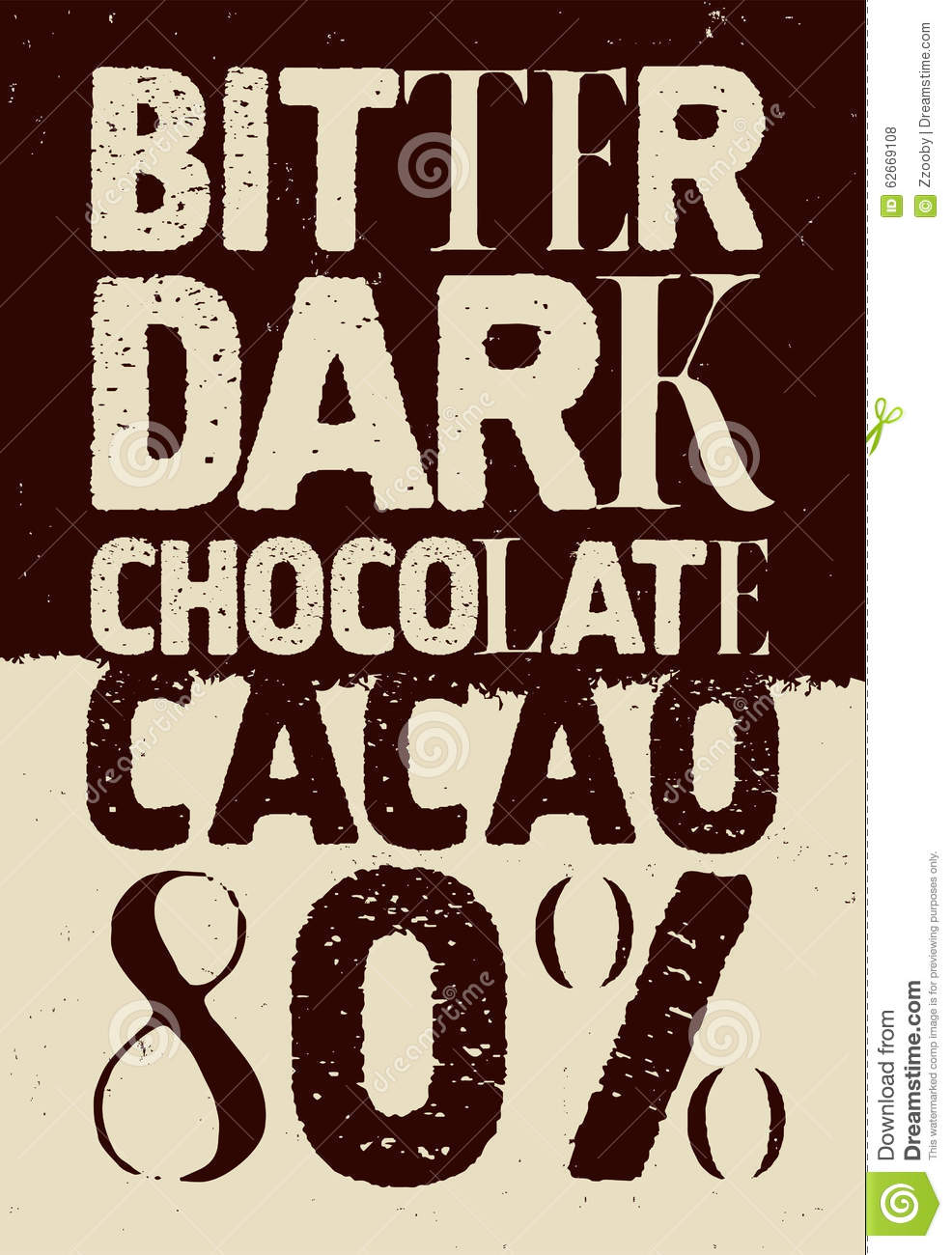 Poster design vector download - Bitter Chocolate Dark Design Illustration Poster