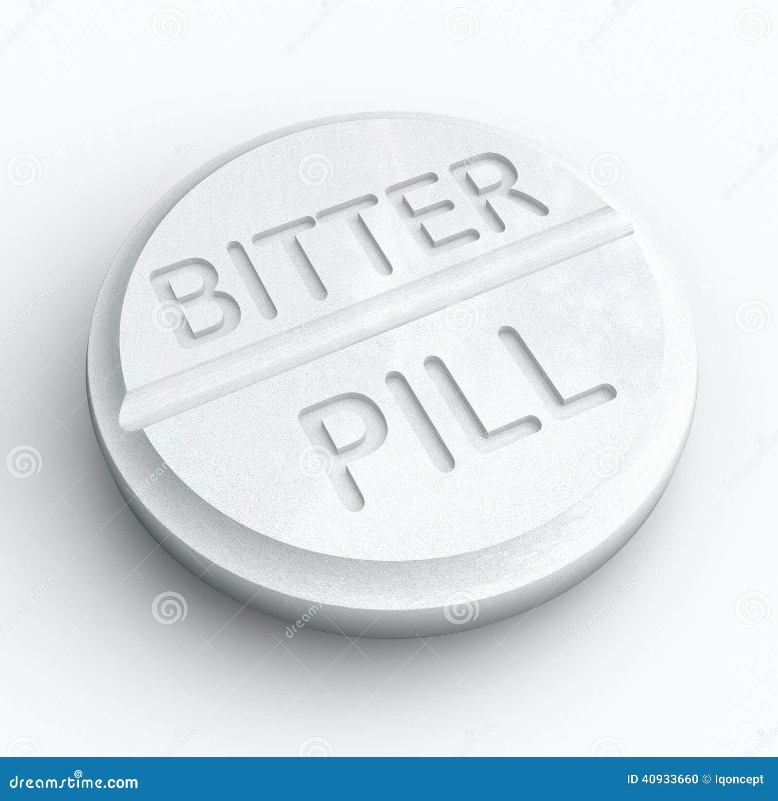 Bitter Pill Hard Medicine To Swallow Word Prescription