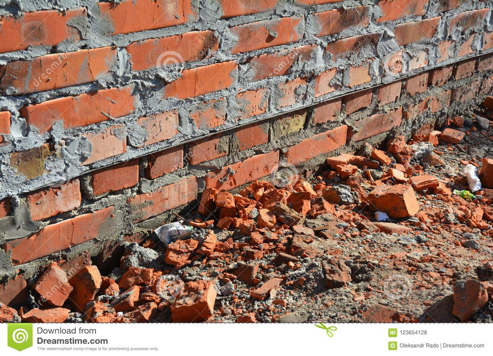 Close Up On Bitumen Waterproofing Membrane On Brick House Wall Foundation Stock Photo Image Of Wetness Bricks 123654128