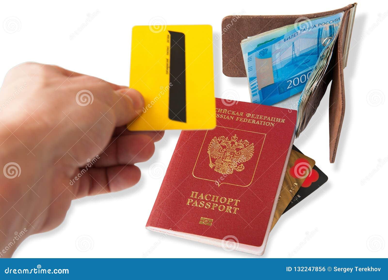Biurko częsty podróżnik - kąta widok Skład rzeczy niezbędne dla wycieczki: paszport z wieloskładnikowego wejścia znaczkami, cudzo