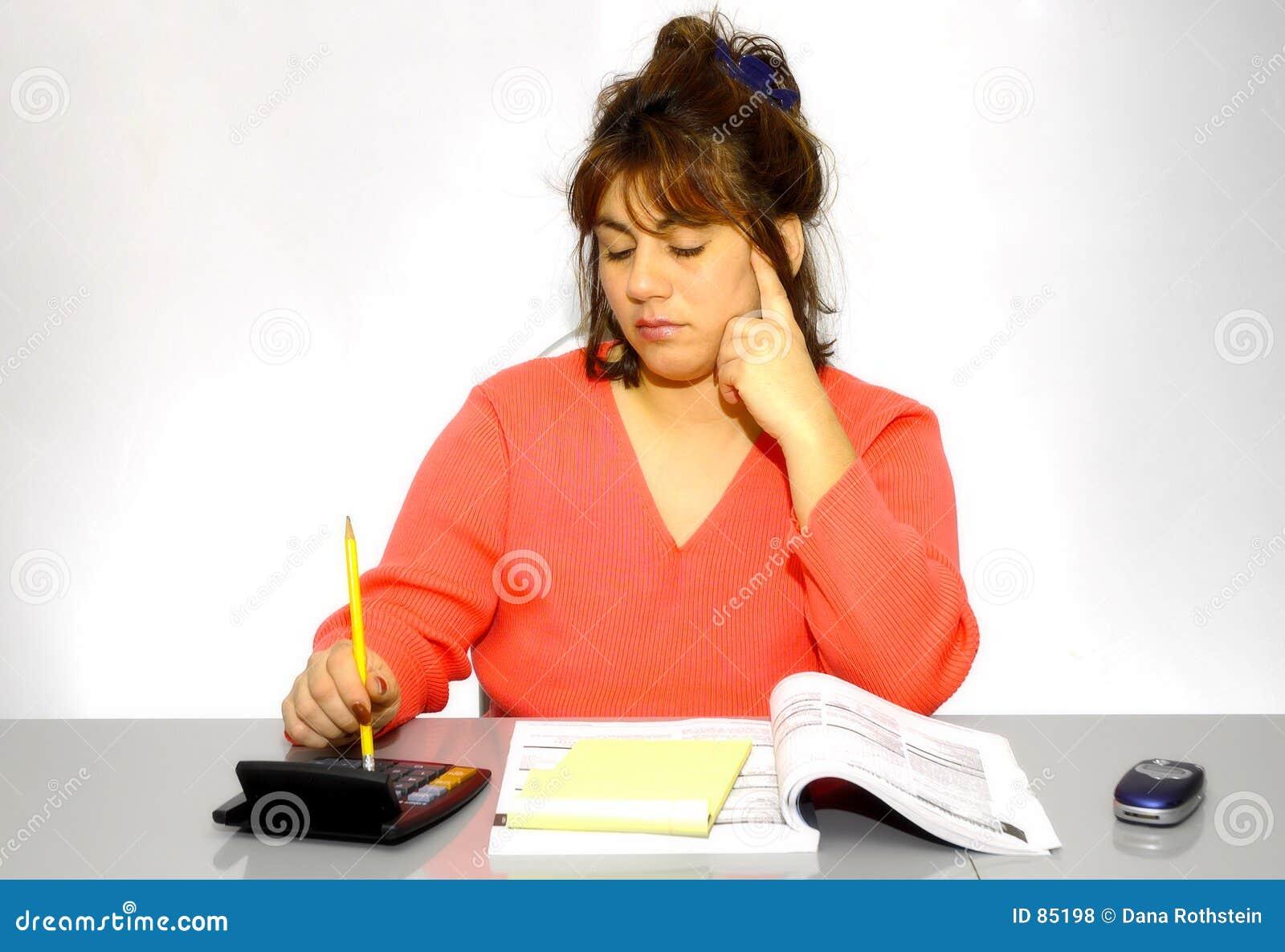 Biurko jej kobieta