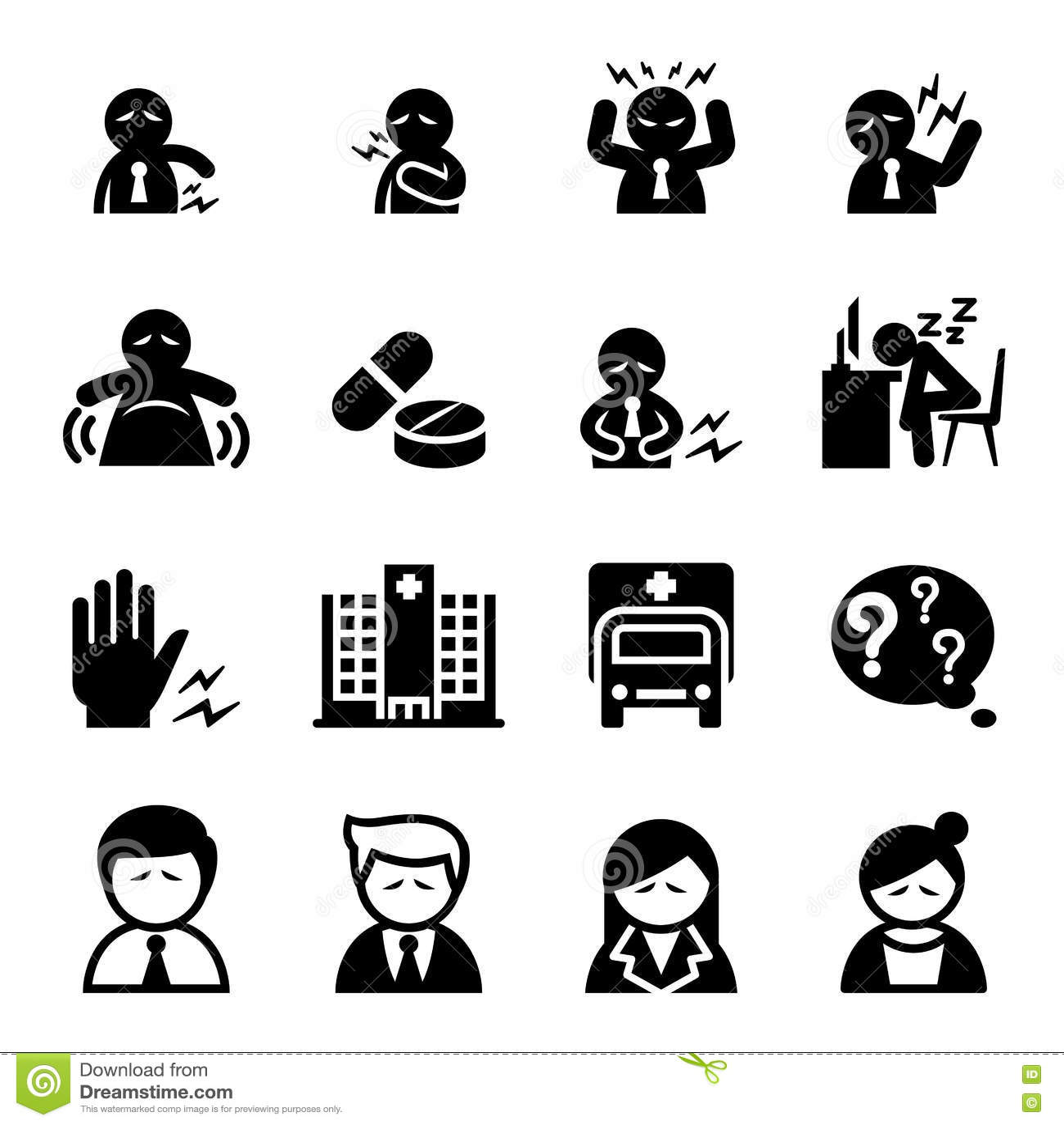 Biurowa syndrom ikona