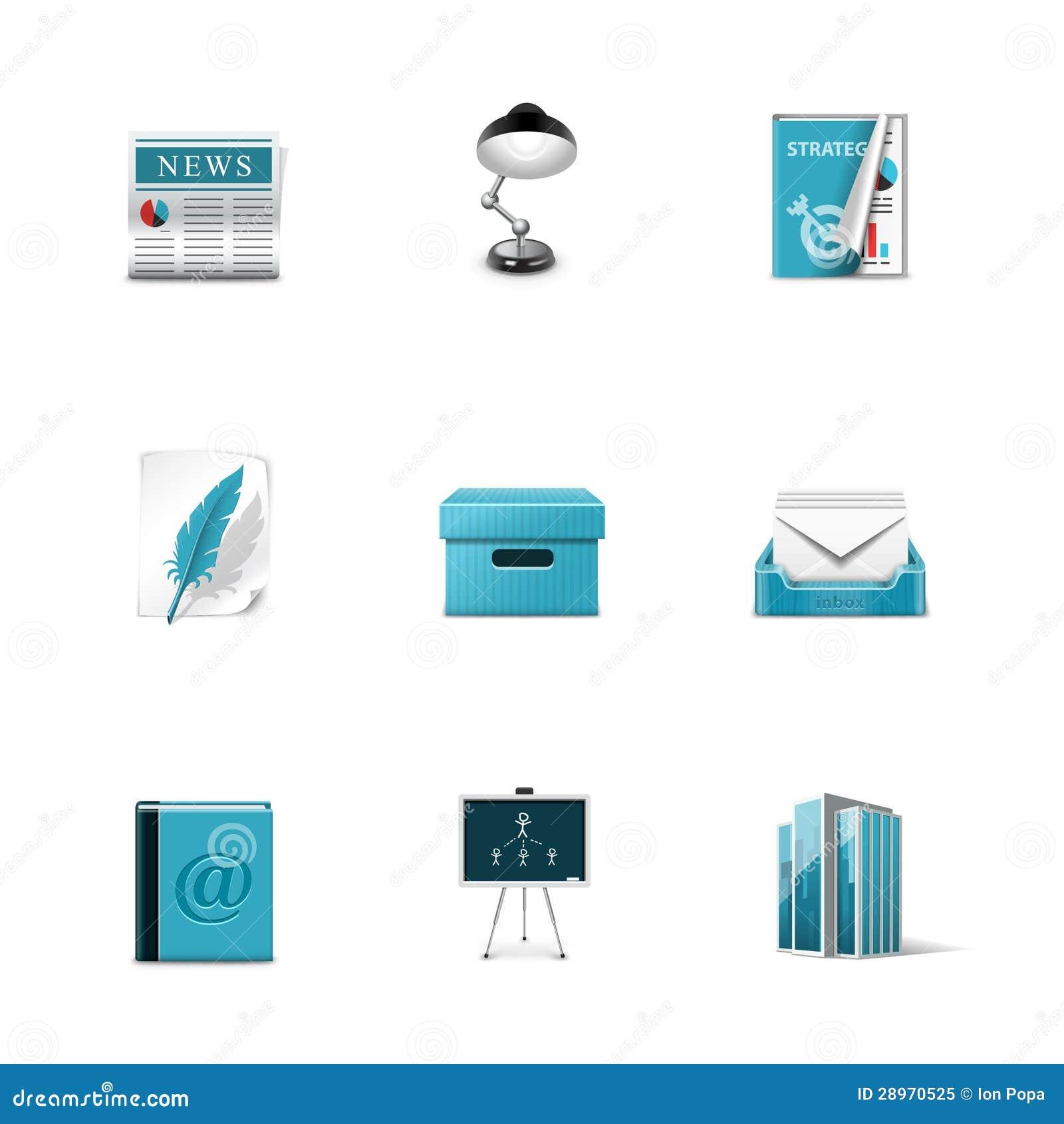Biurowe ikony. Azzuro serie