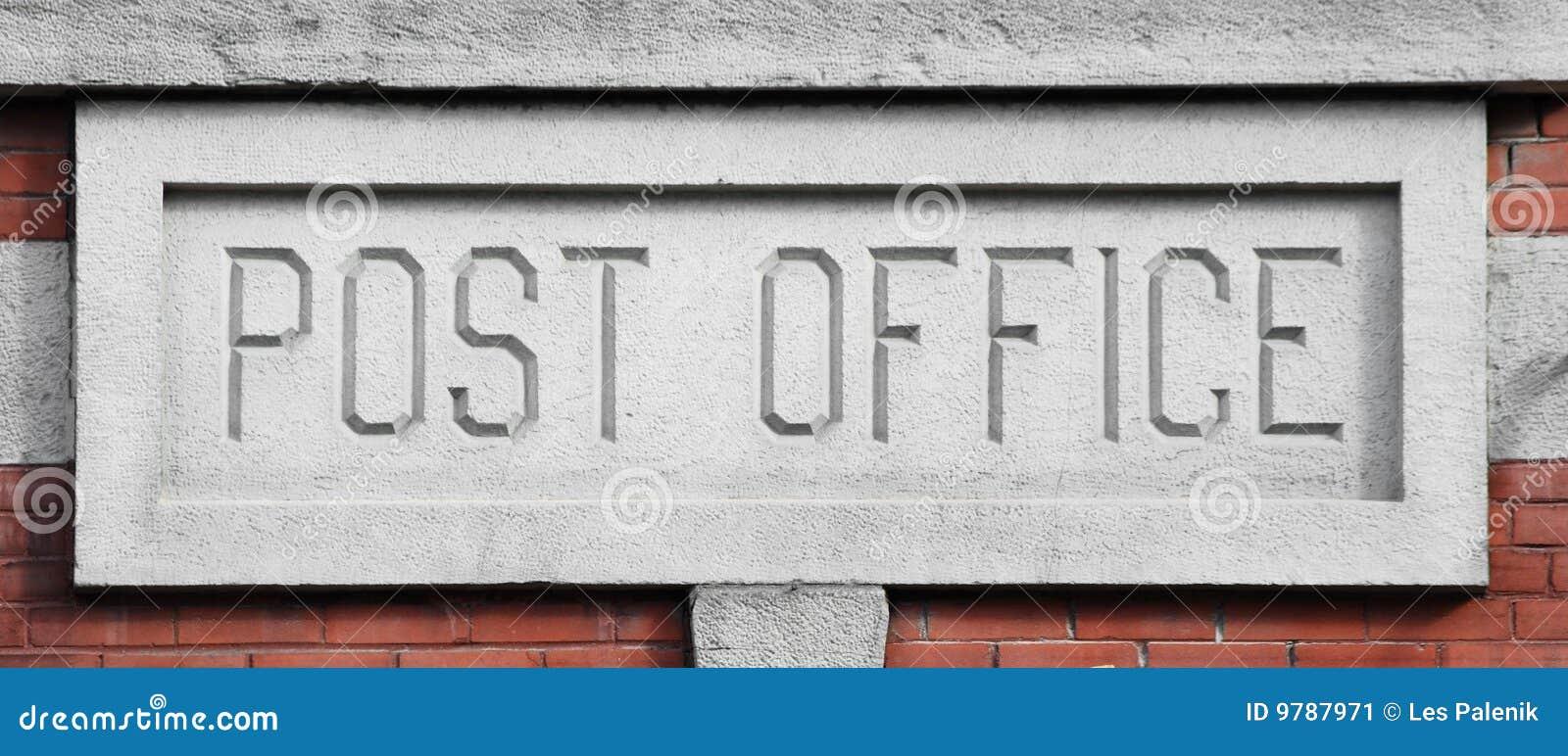 Biurowy poczta znak