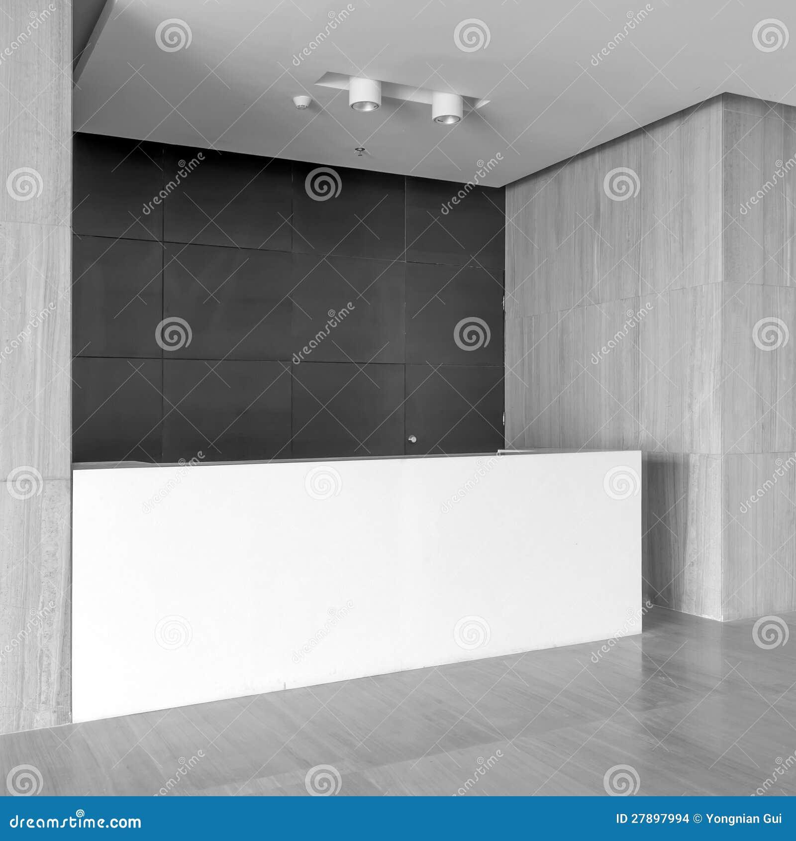 Biurowy recepcyjny teren