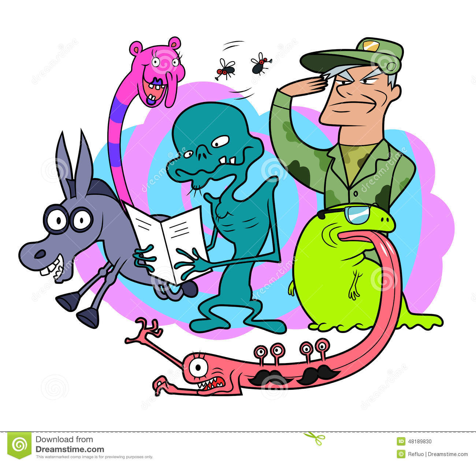 Random: Bizarre Creatures Stock Vector. Illustration Of Decoration
