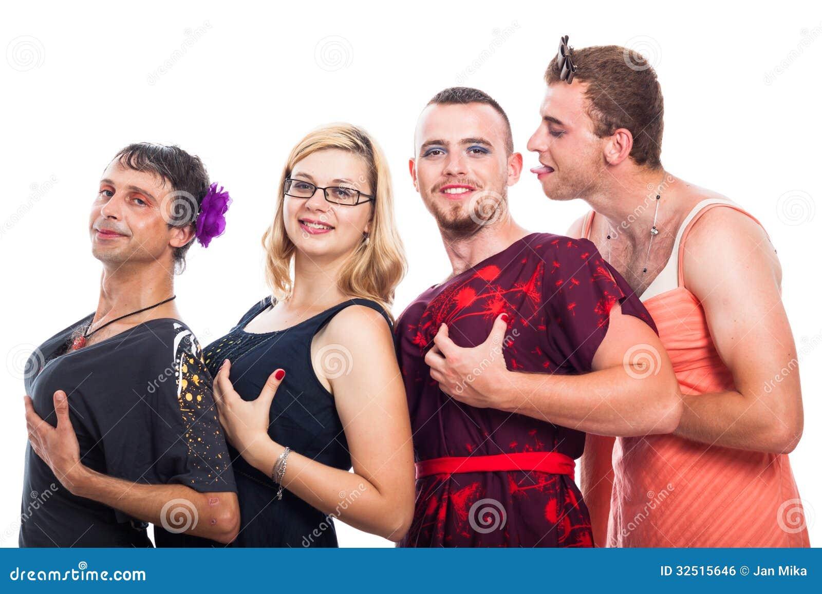Трое мужчин и женщин 7 фотография