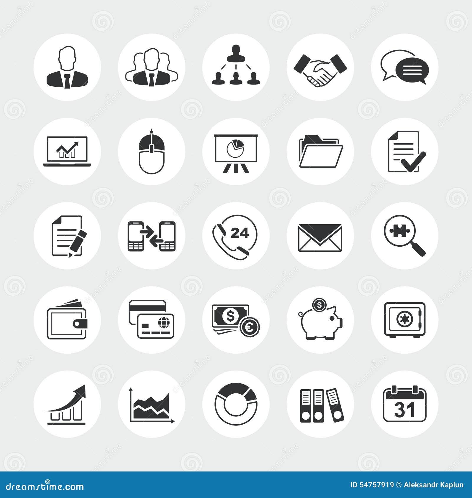 Biznes ikony sumaryczny wektorowy set