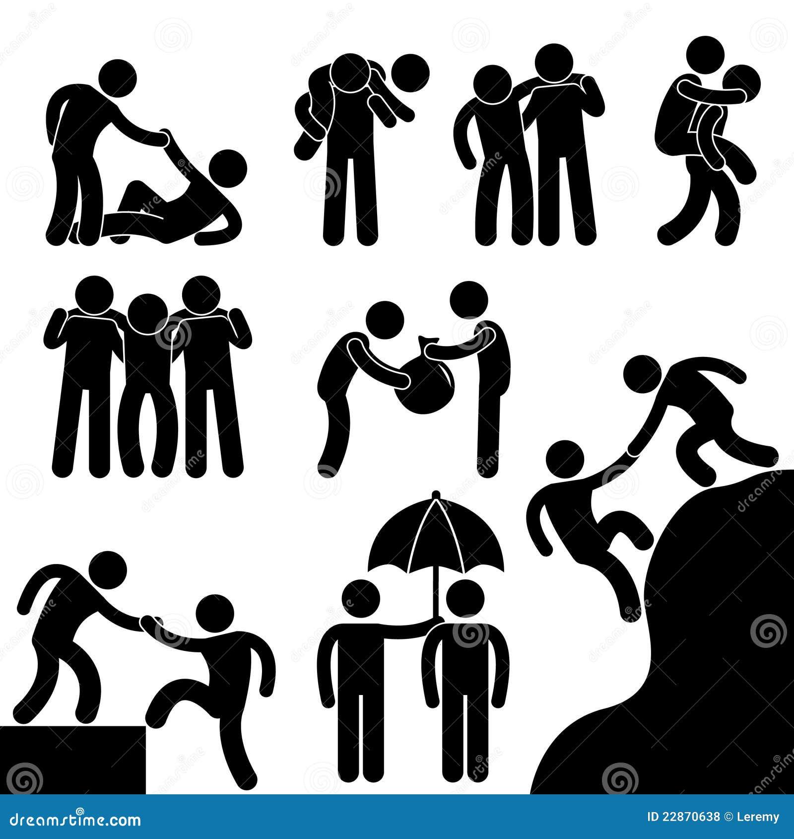 Biznes inny przyjaciel pomaga inny