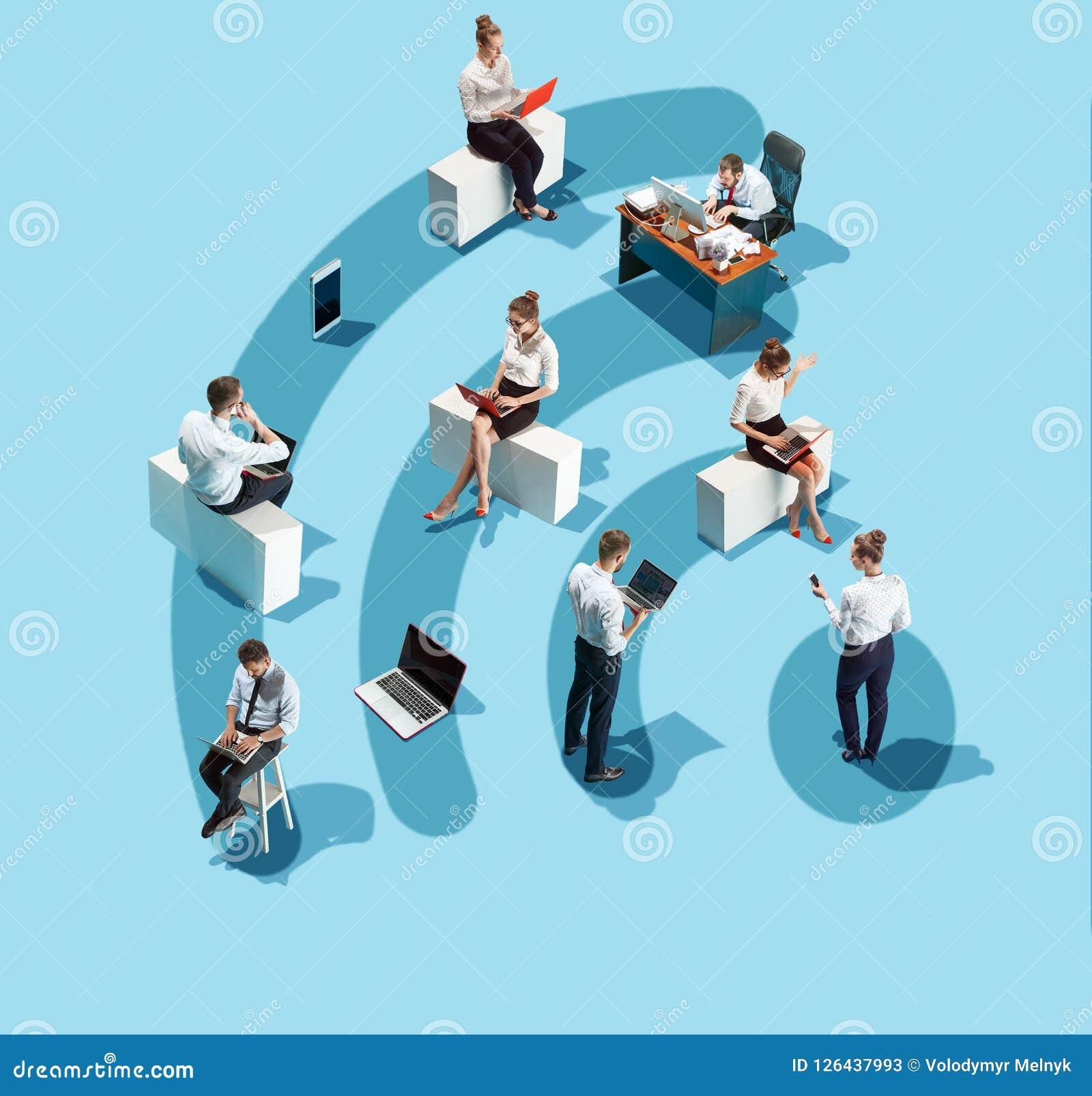 Biznes, rekrutacja, działu zasobów ludzkich działu pojęcie