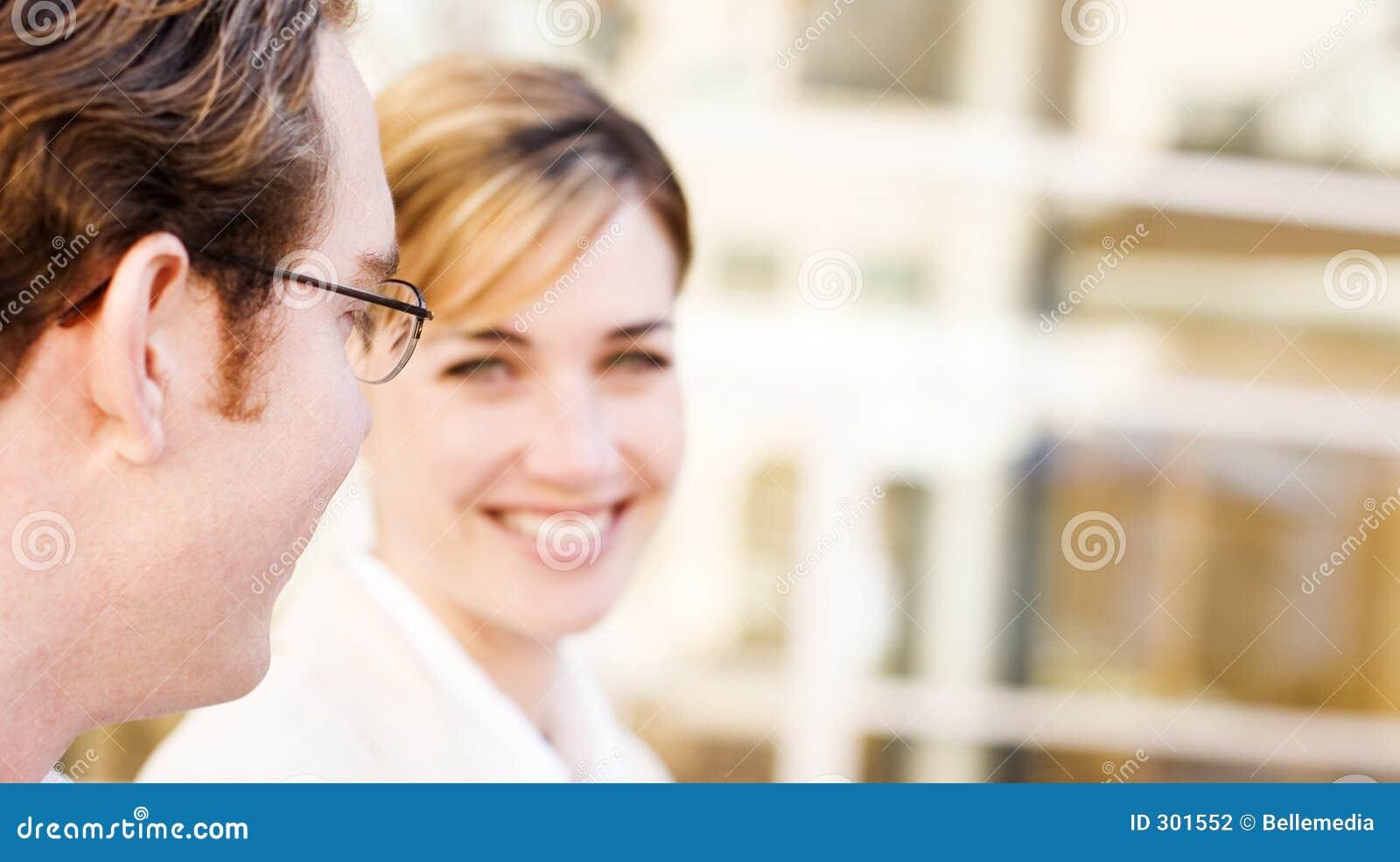Biznes uśmiech