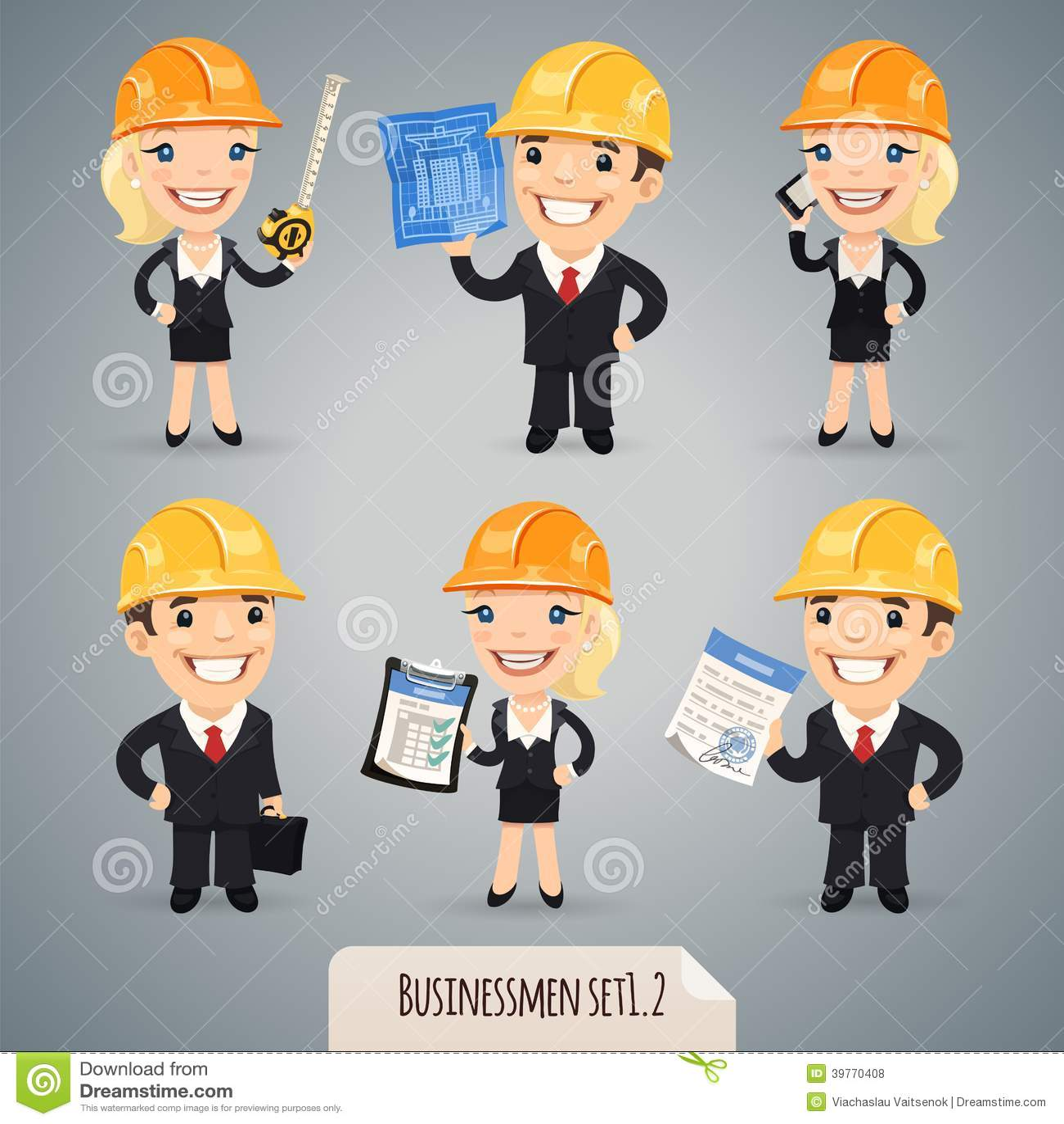Biznesmenów postać z kreskówki Set1.2