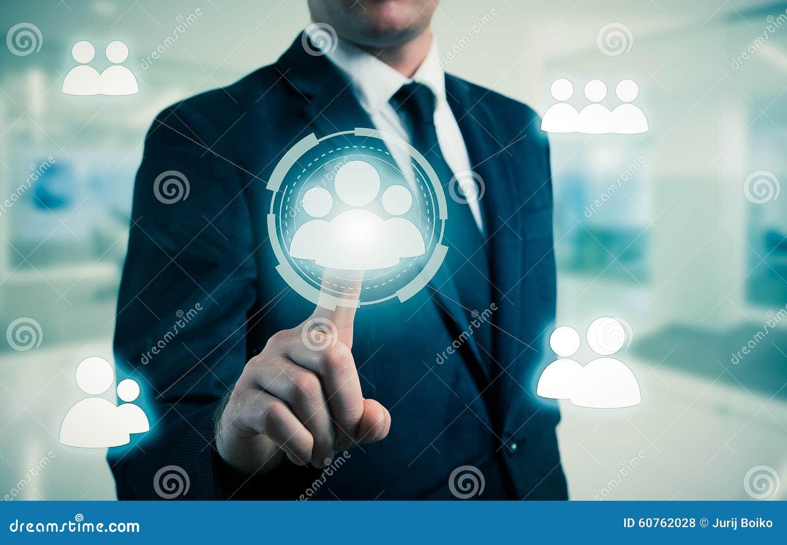 Biznesmenów punkty CC$HR, rekrutacja i wybierający pojęcie,