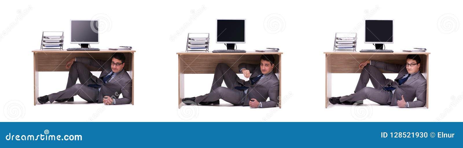 Biznesmen chuje w ofice
