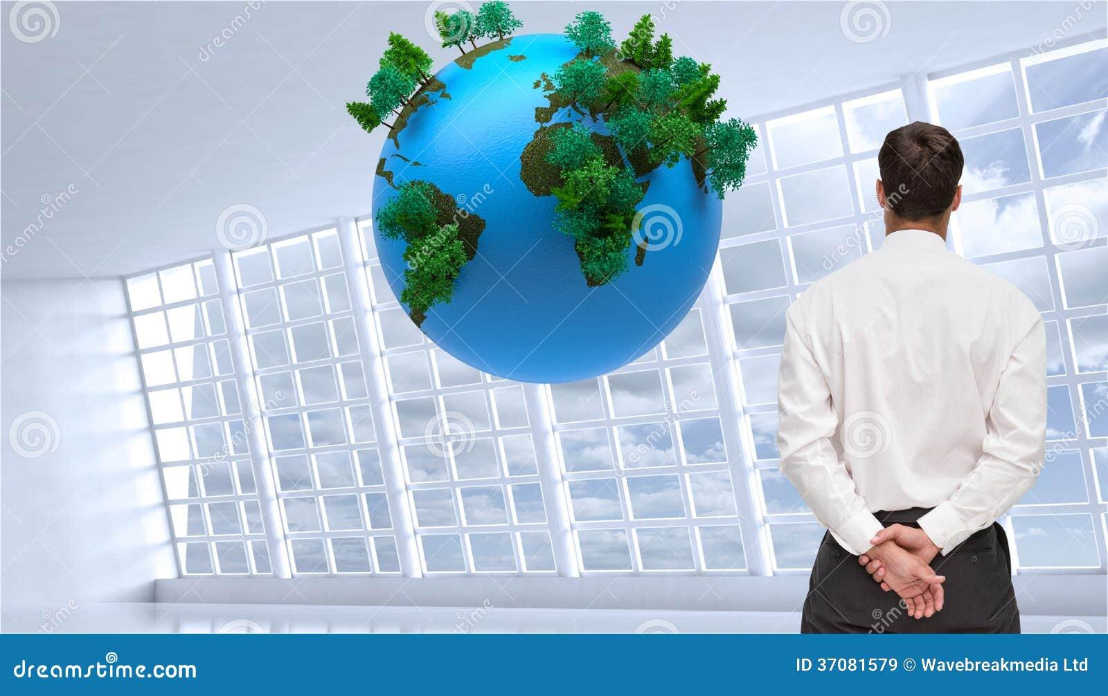 Download Biznesmen Obraca Jego Plecy Kamera Obraz Stock - Obraz złożonej z natura, pokój: 37081579