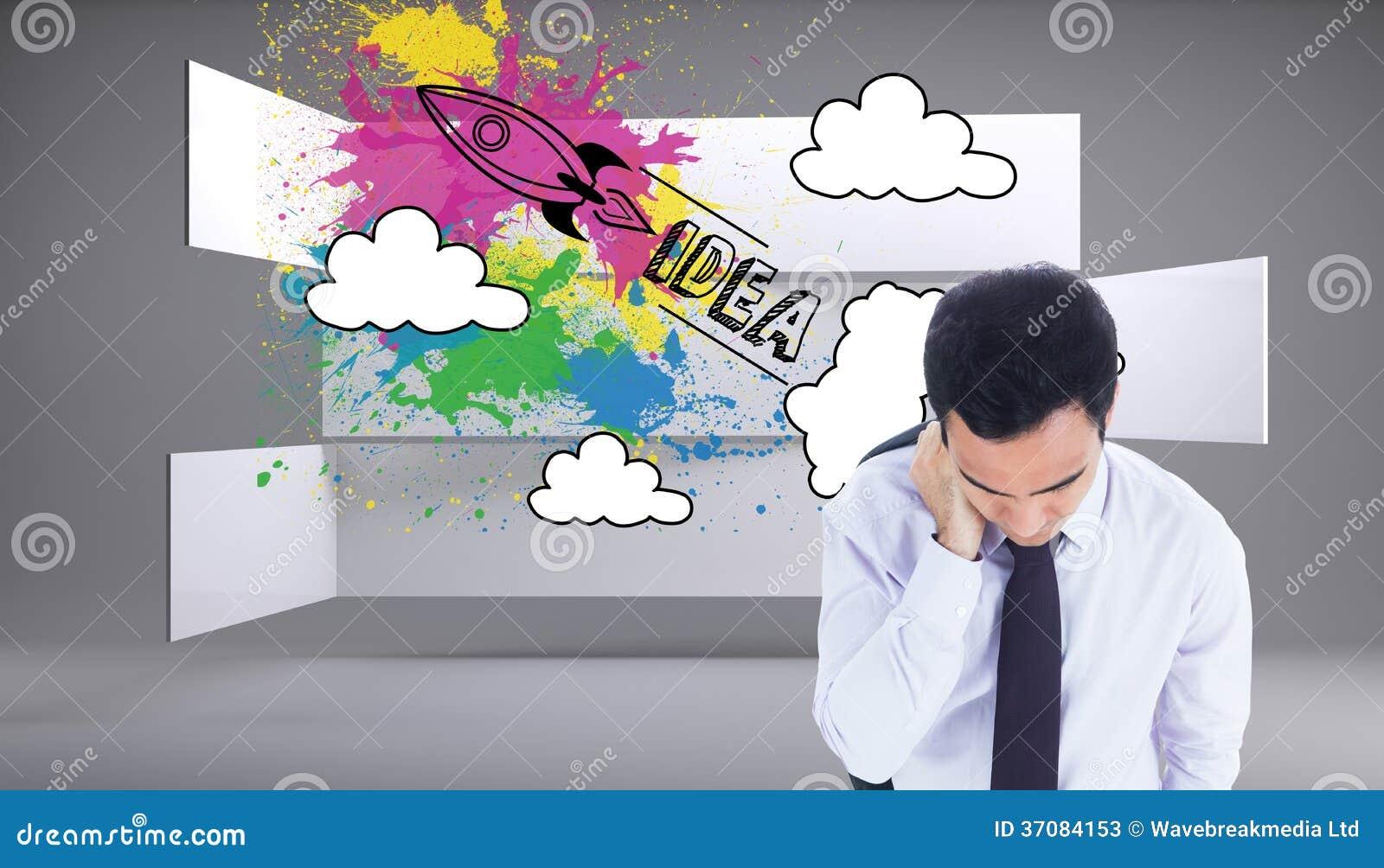 Download Biznesmen pozycja obraz stock. Obraz złożonej z osoba - 37084153