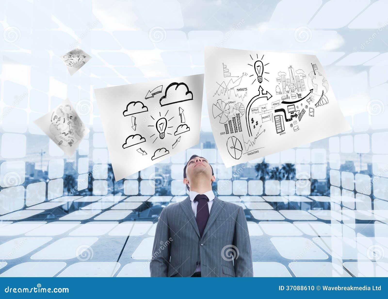 Download Biznesmen pozycja zdjęcie stock. Obraz złożonej z coastline - 37088610