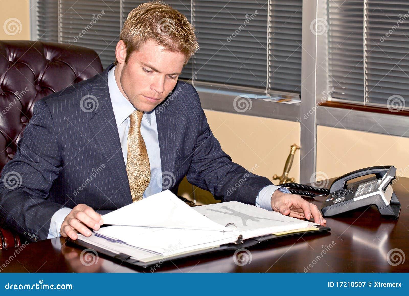 Biznesmen praca