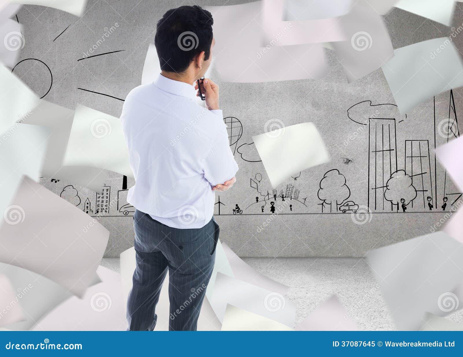 Download Biznesmen trzyma szkła obraz stock. Obraz złożonej z społeczność - 37087645