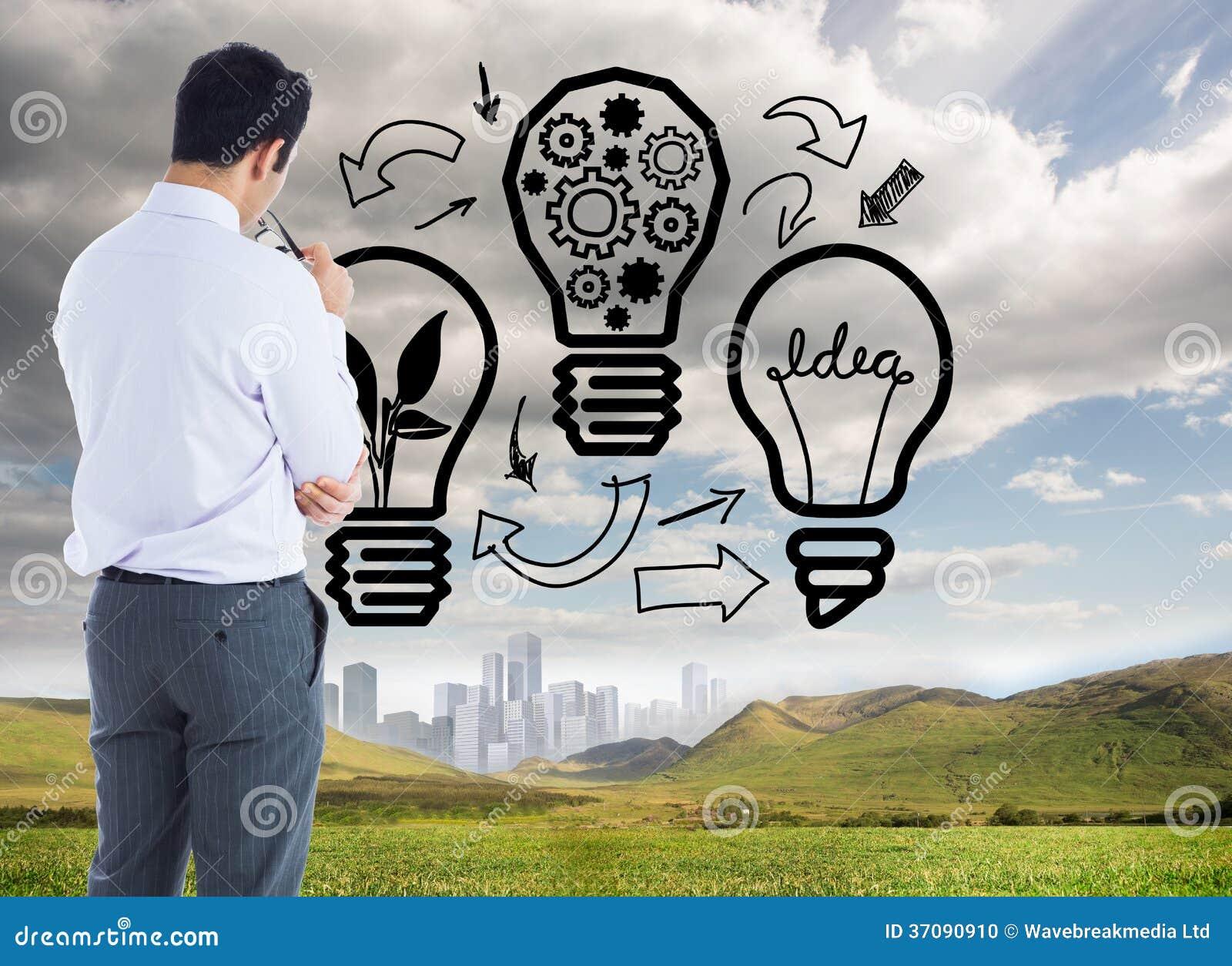 Download Biznesmen trzyma szkła zdjęcie stock. Obraz złożonej z przemysł - 37090910