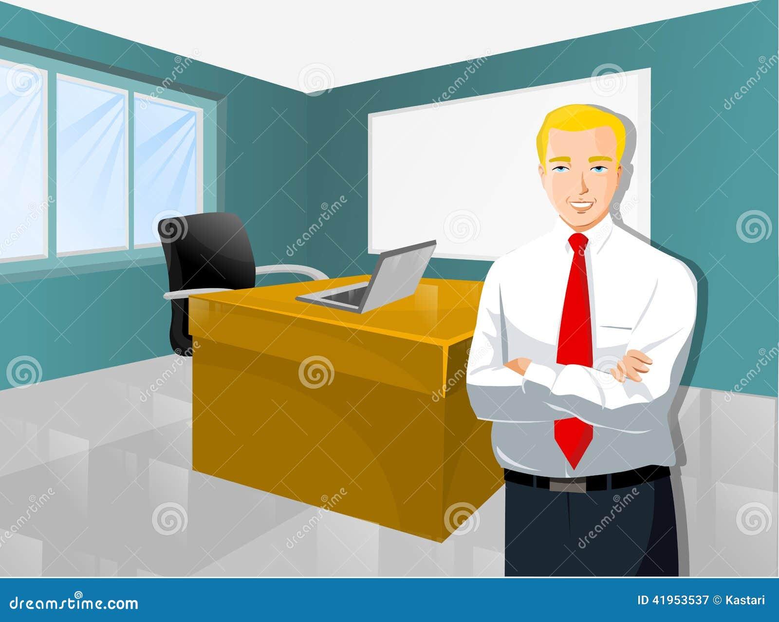Biznesmen W Workspace