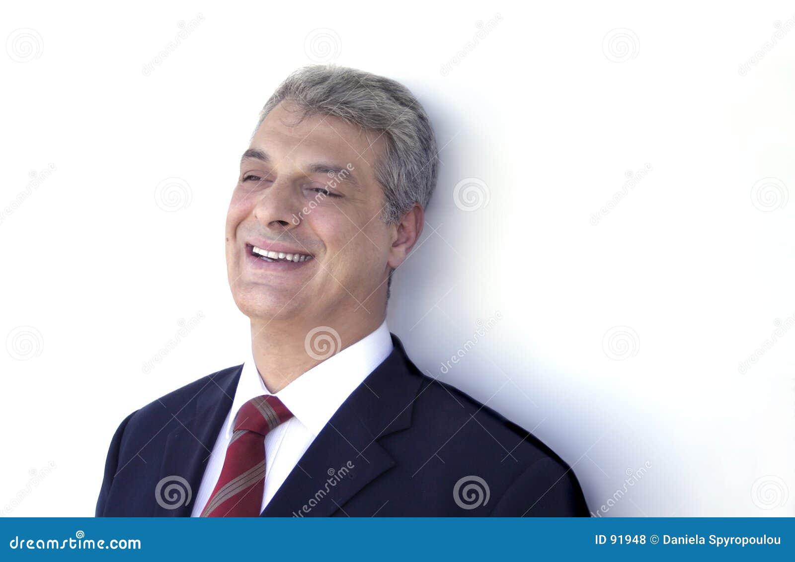 Download Biznesmena śmiać zdjęcie stock. Obraz złożonej z excited - 91948