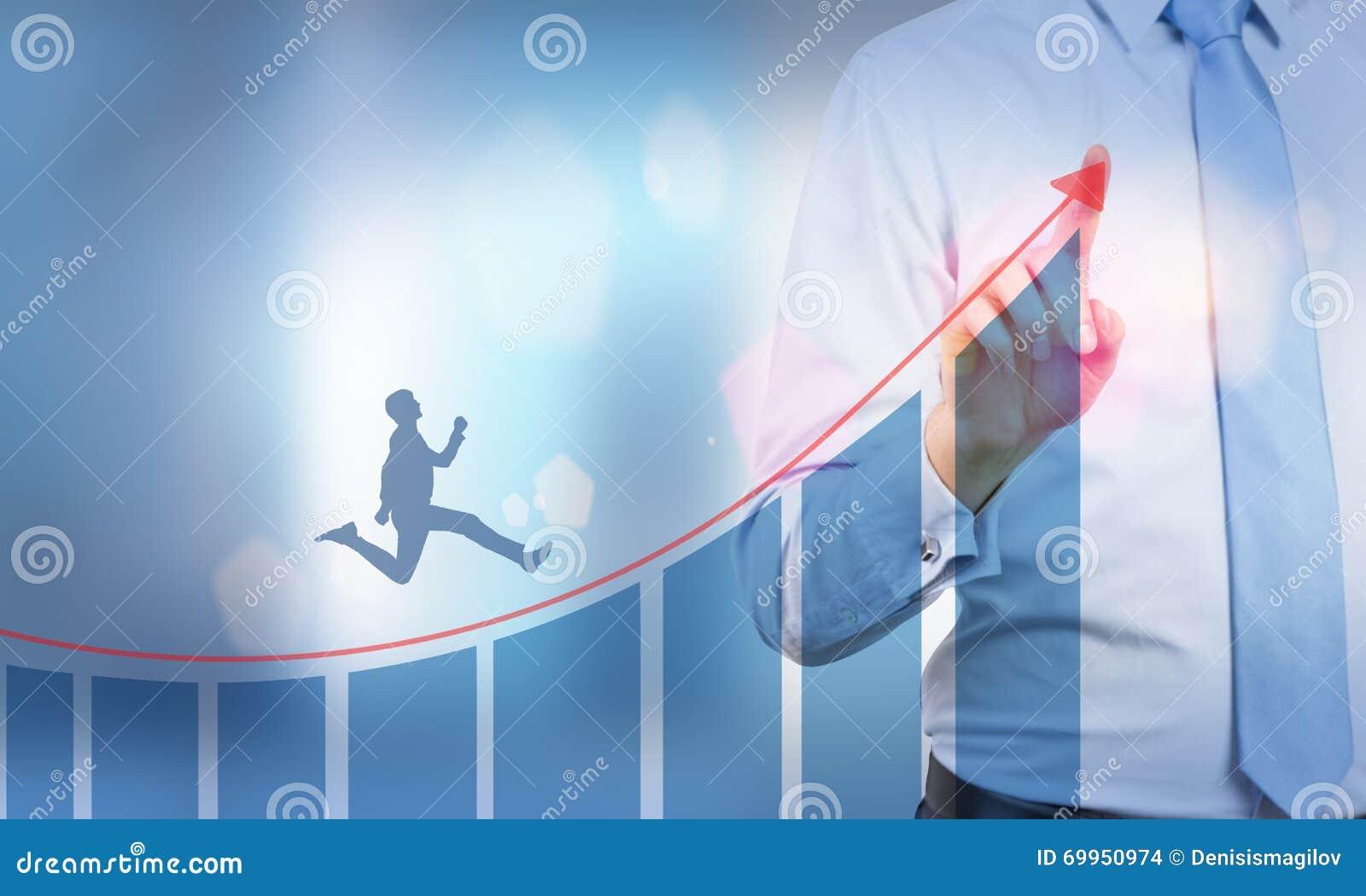 Biznesmena biegać oddolny