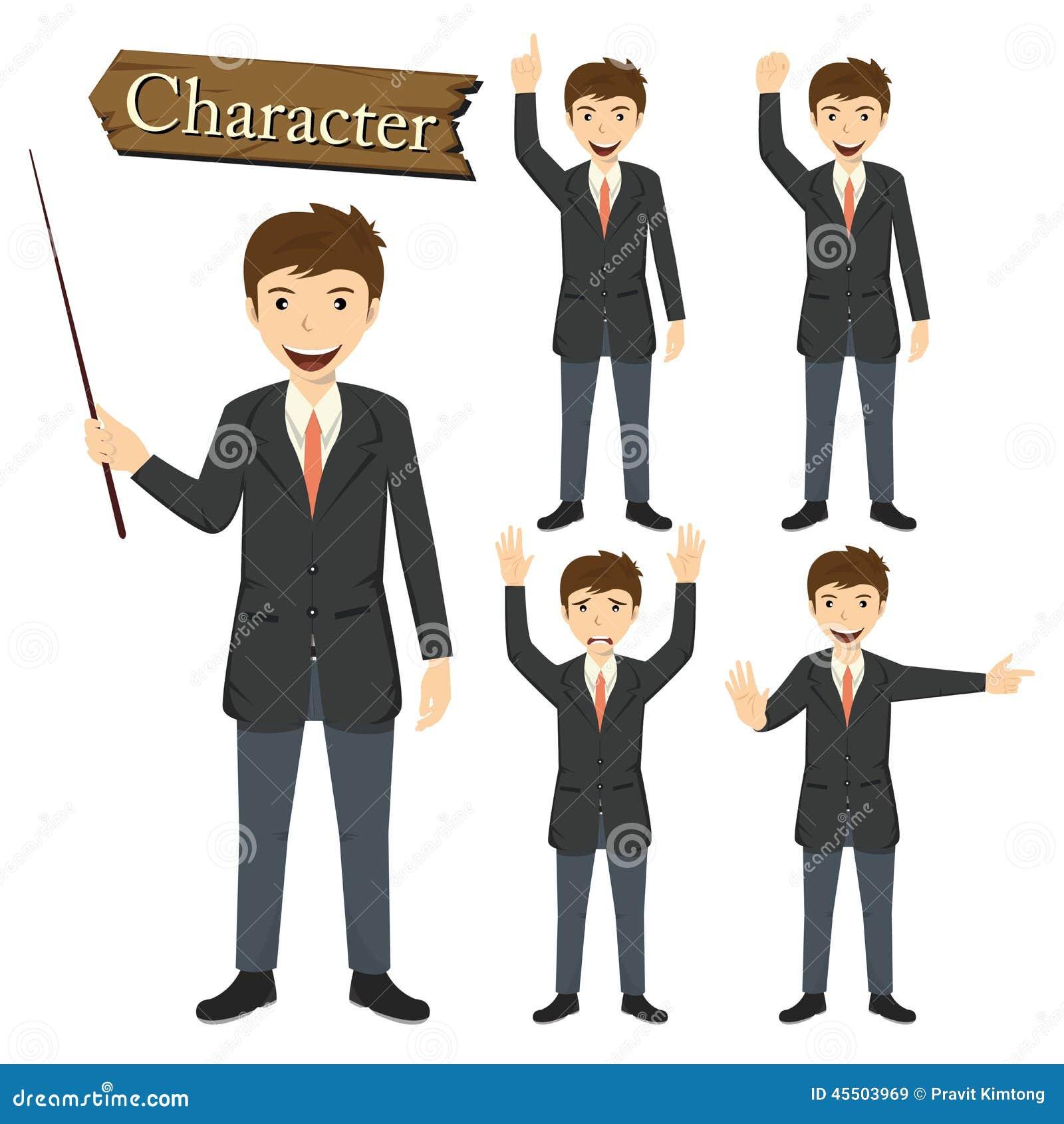 Biznesmena charakter - ustalona wektorowa ilustracja
