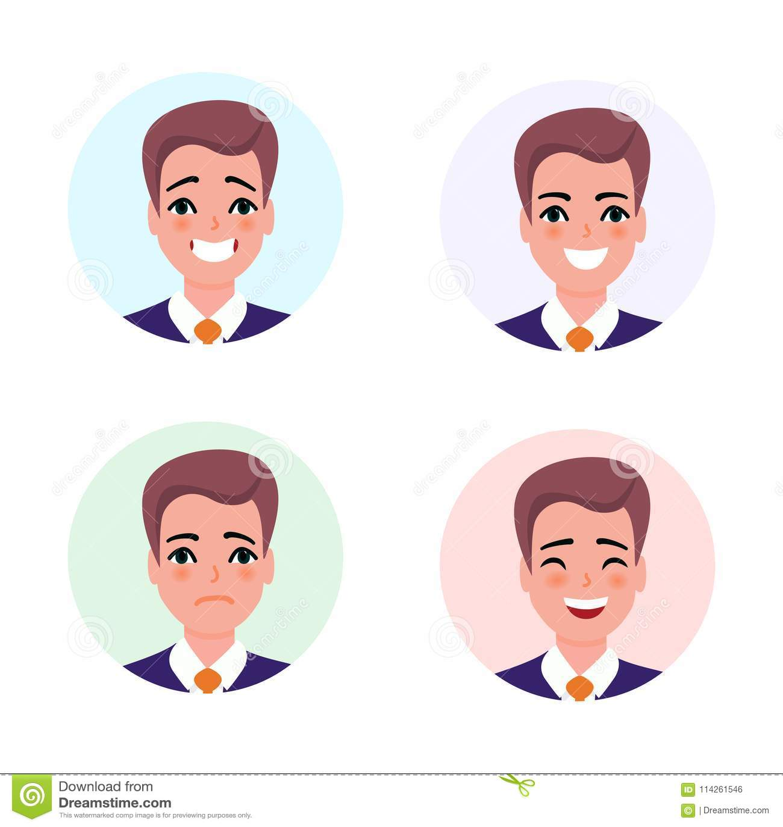 Biznesmena charakteru avatar set