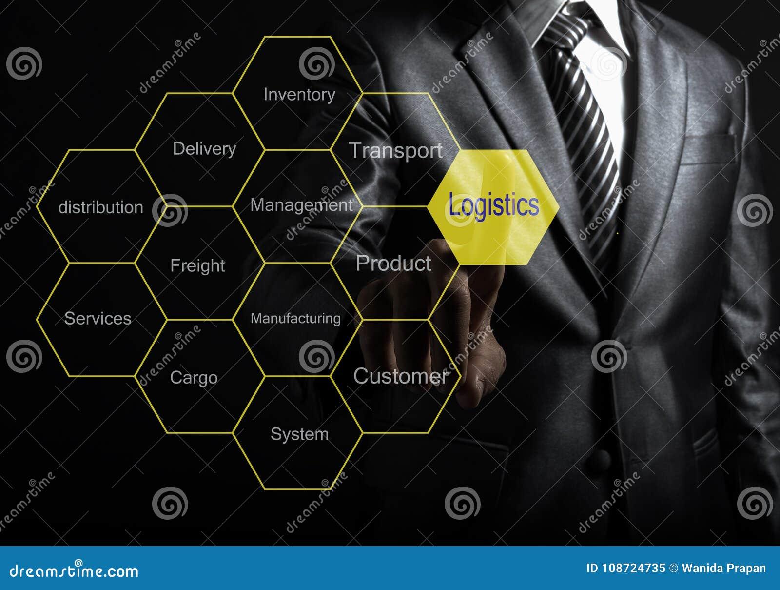 Biznesmena dotyka Logistycznie konsultant przedstawia etykietki chmurę