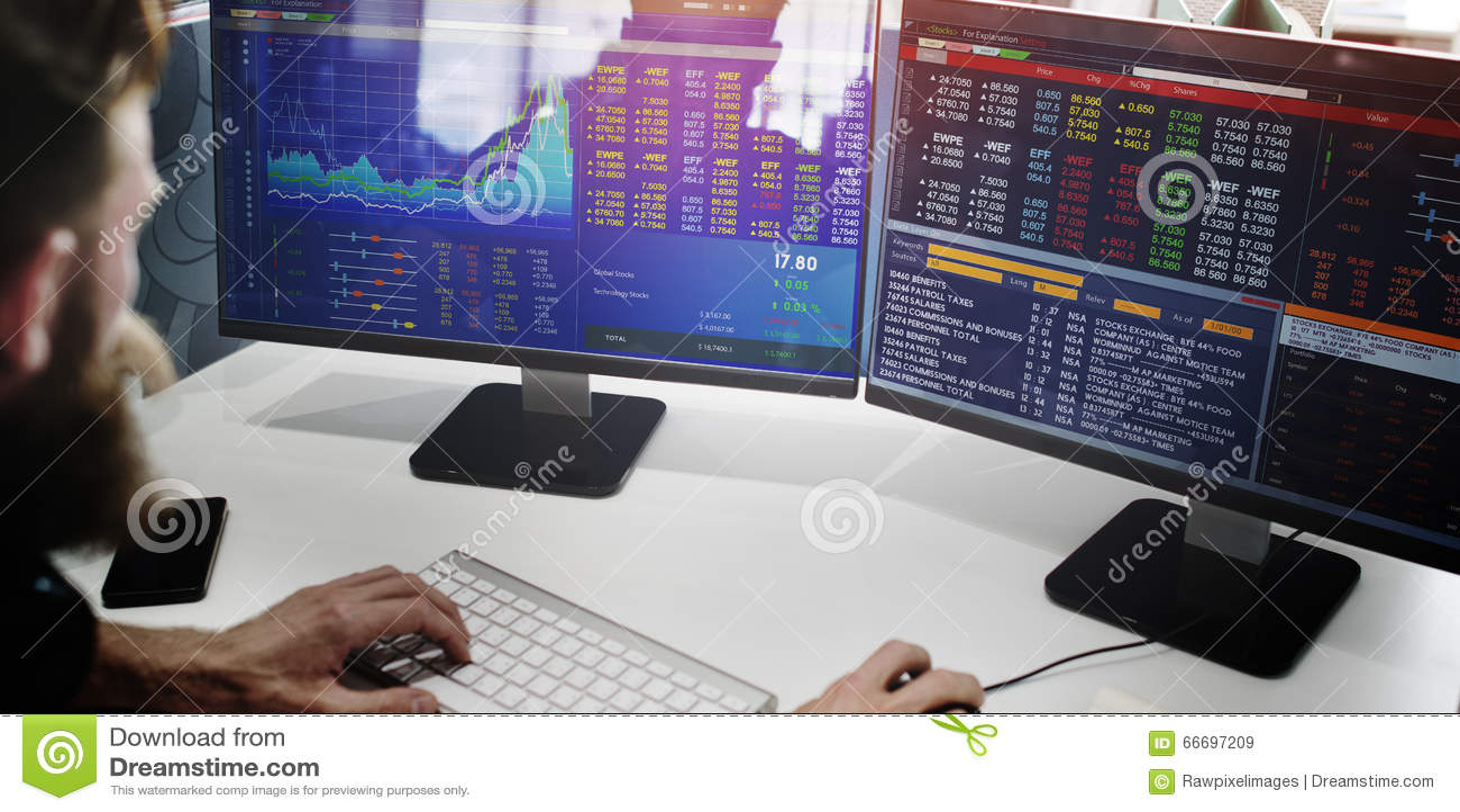 Biznesmena działania finanse handlu zapasu pojęcie
