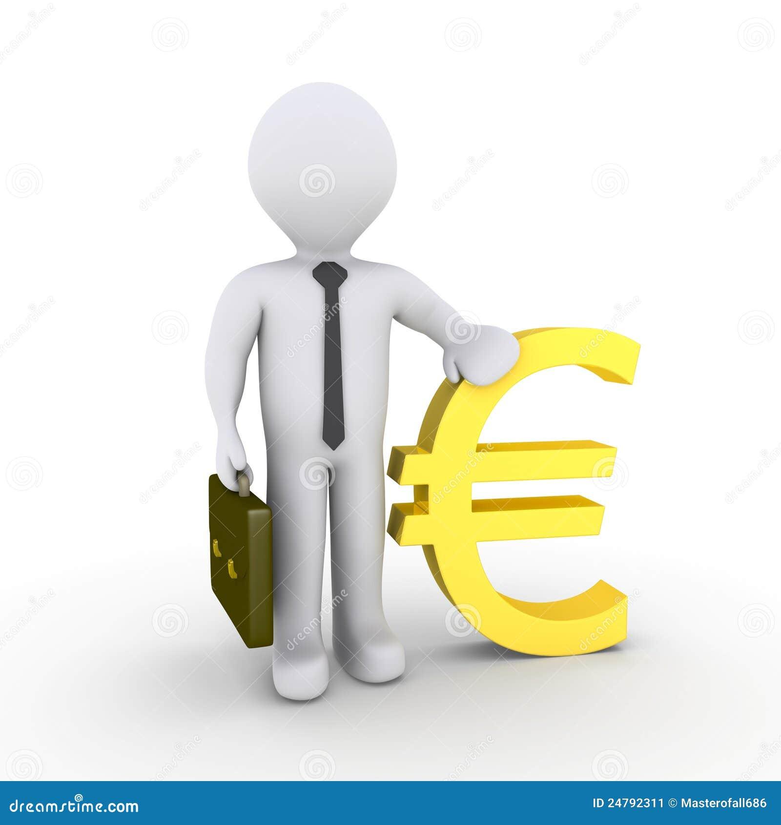 7972657c1 Biznesmena euro znak ilustracji. Ilustracja złożonej z kierownik ...