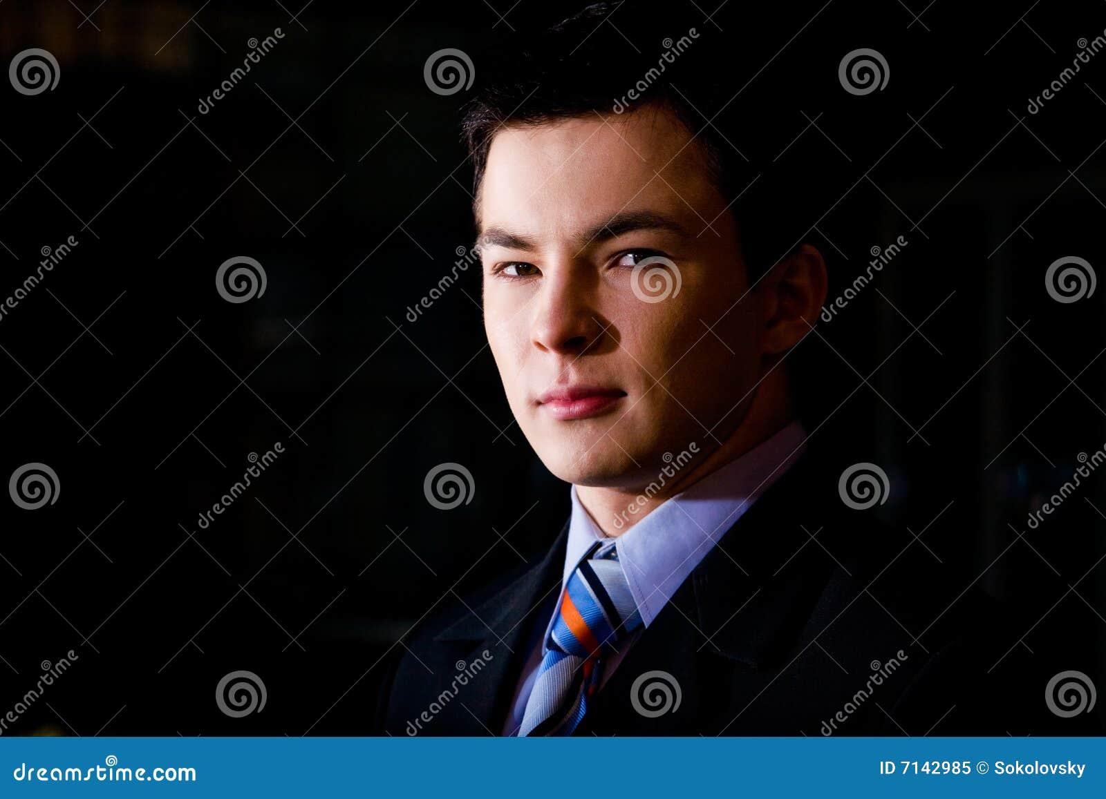 Biznesmena klasyczni portreta potomstwa