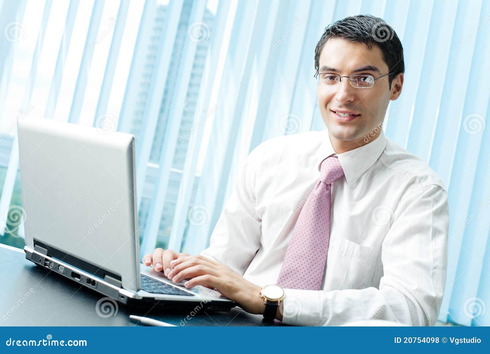 Biznesmena laptop