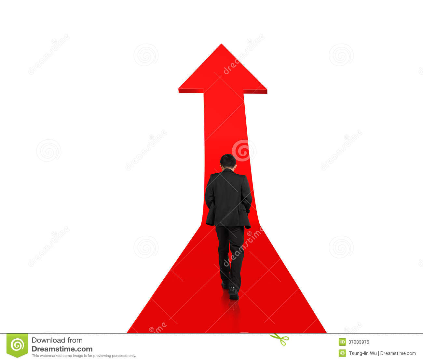 Download Biznesmena Odprowadzenie Na Narastającej Czerwonej Strzała Obraz Stock - Obraz złożonej z diagram, mapa: 37083975