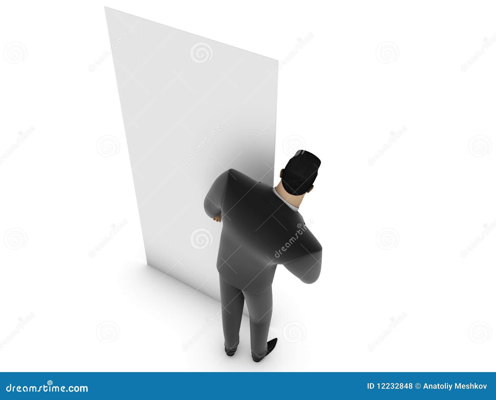 Biznesmena panelu biel