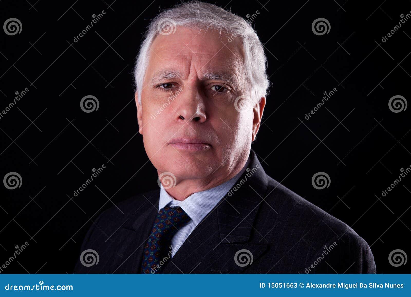 Biznesmena portret przystojny dojrzały