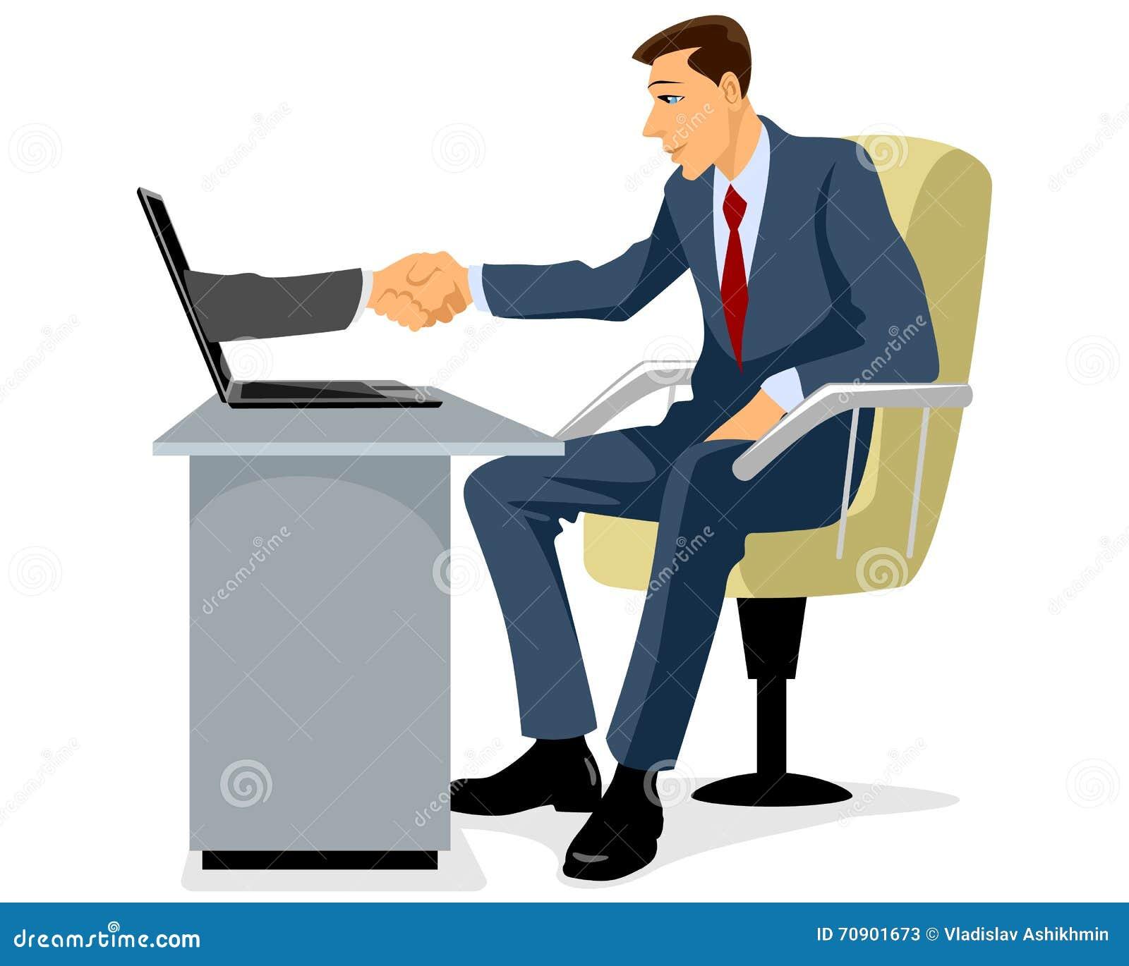 Biznesmena ręki chwianie