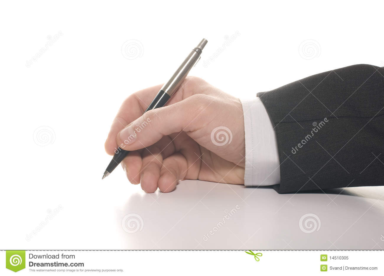 Biznesmena ręki s podpisywanie