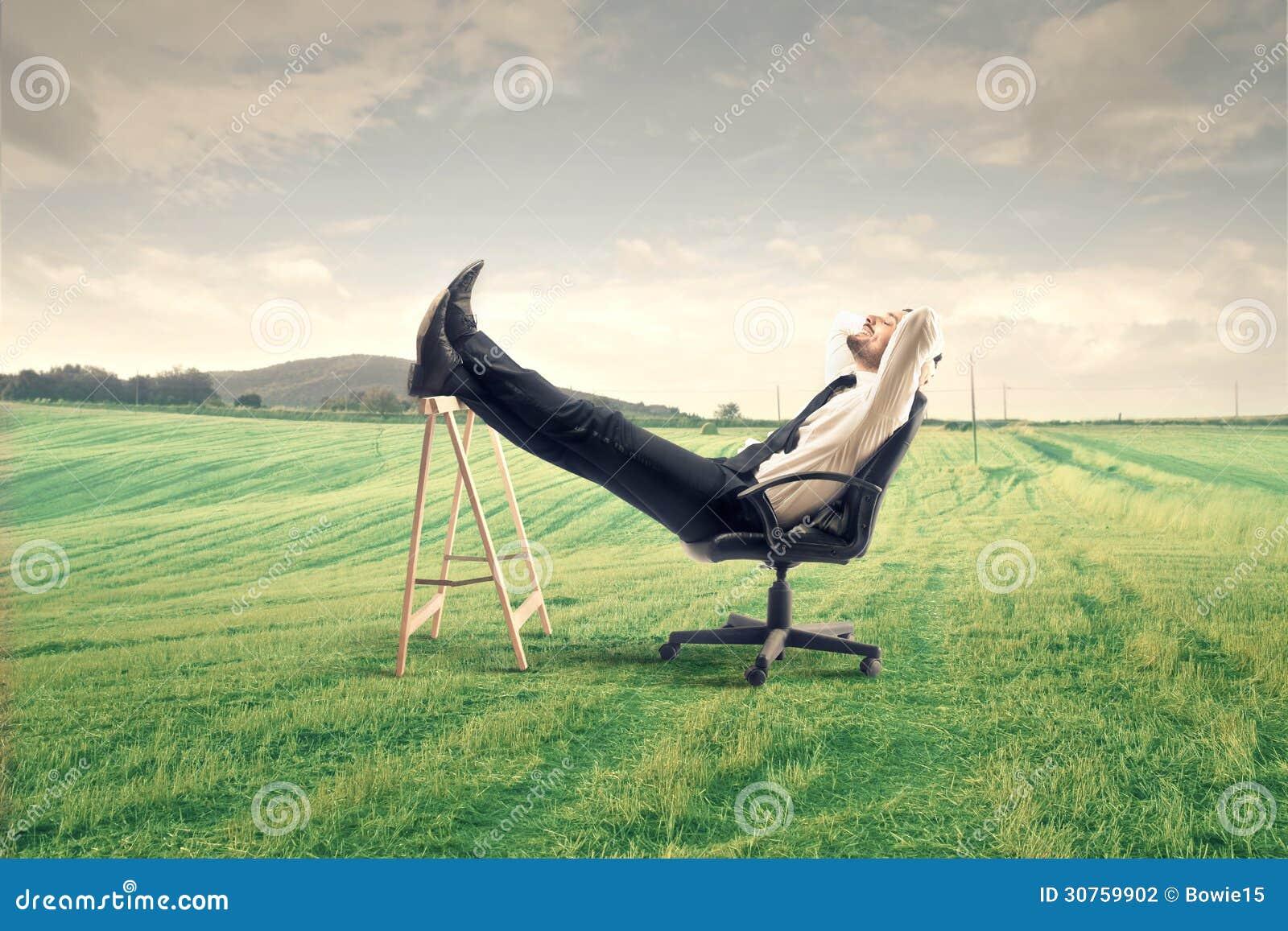 Biznesmena relaksować