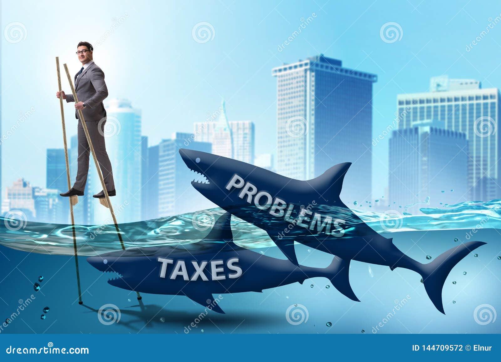 Biznesmena wystrzeganie p?aci wysokich podatki