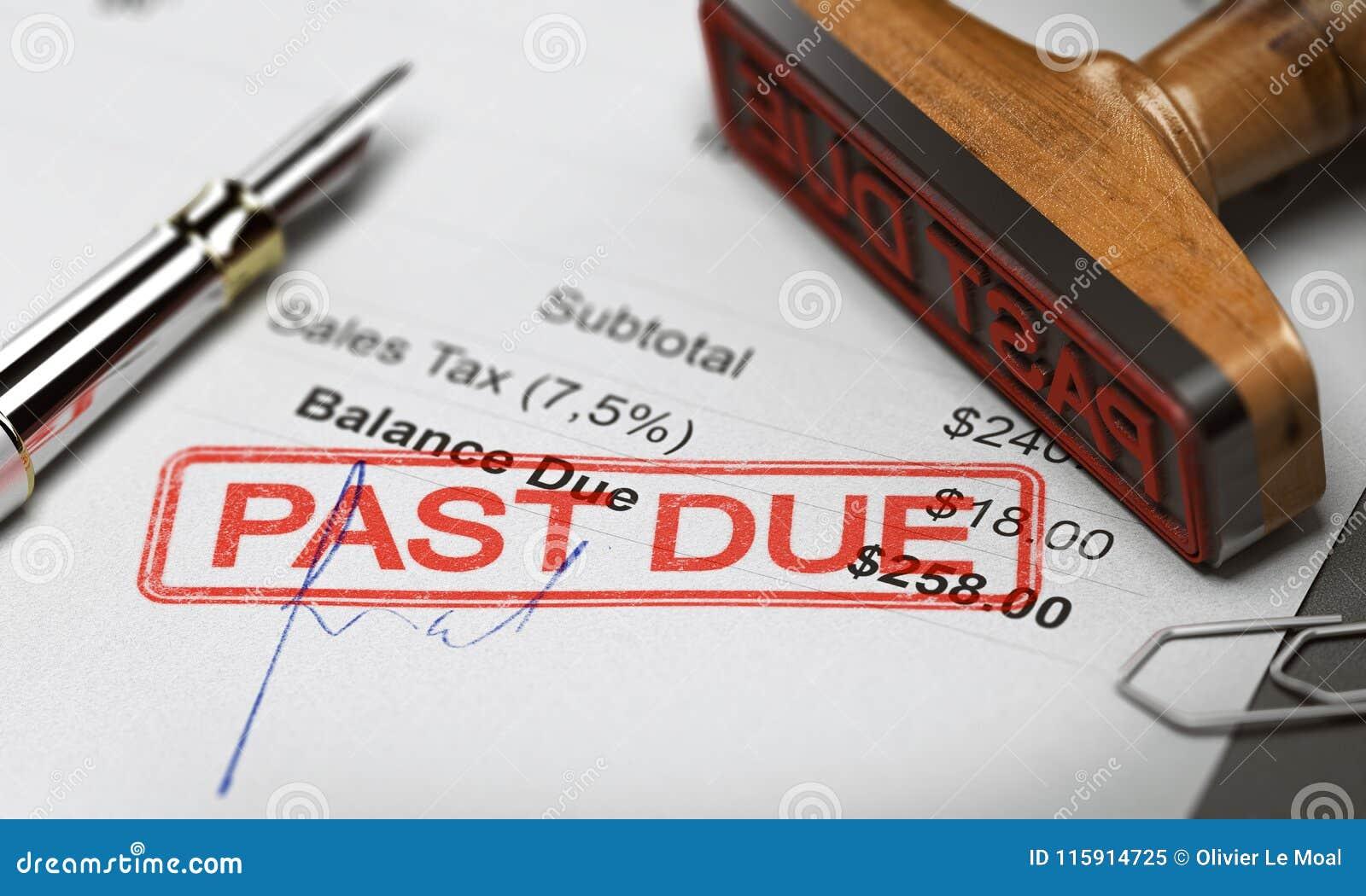 Biznesowa dług kolekcja, wyzdrowienie lub Niepłatna faktura
