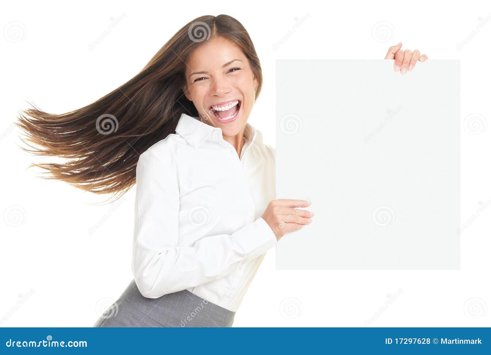 Biznesowa energiczna seans znaka kobieta
